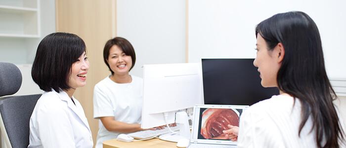 女性医師による診察・検査