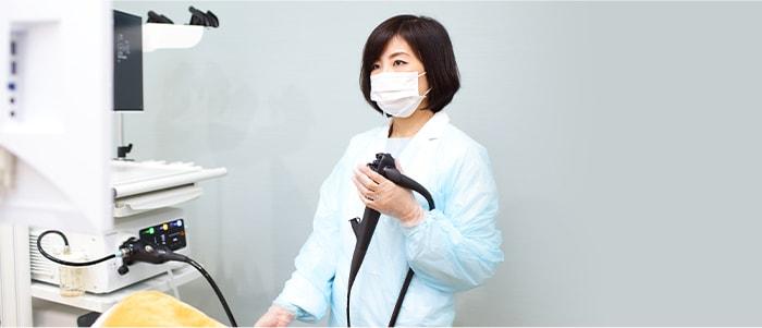 鎮静剤使用により眠った状態で胃カメラ検査を受けられます。